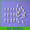 1;100 standing smooth minature white figure/toy smooth plastic white figure