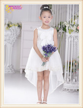 white color chiffon flower girl dress small clothing baby puffy flower girl dress