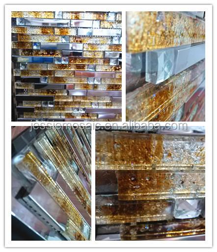 Js onda striscia di vetro mattonelle della parete mattonelle di ...