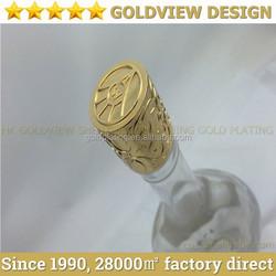 OEM design high quality black painted metal wine caps for brandy wisky vodka cognac XO