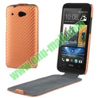 Carbon Fiber Pattern wallet leather soft case for htc desire 601 with different color and style