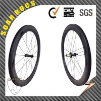 SoarRocs 700C cyclocross carbon wheels 60mm clincher wheelset tubeless clincher wheelset