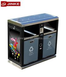 Advertising Urban Equipment Smart Trash Bin/Solar Waste Can With Solar Energy