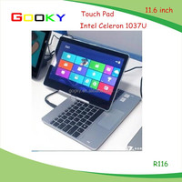OEM Super slim 11.6 inch2GB/320GB laptop with camera and WiFi price roll top laptop