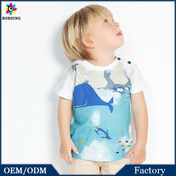 High Quality Summer Latest Shirt Designs For Boys Funny Printing Cotton T Shirt