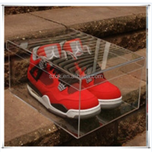 high glass comfortable clear acrylic small box for adidas