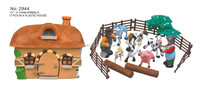 Hot sale small cute plastic farm animal toys for sale, intelligent toys