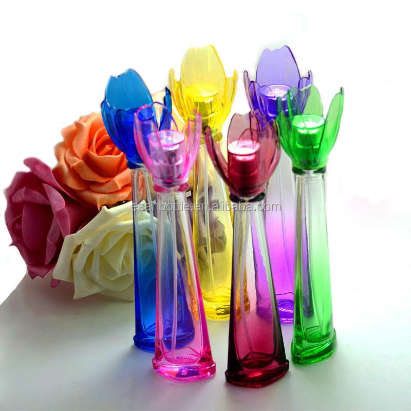 Wholesale PT116-15ML Wholesale Colored Flower Cap Glass ...