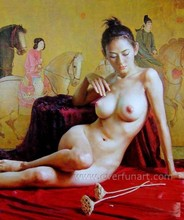 high quality sexy nude woman oil painting on canvas
