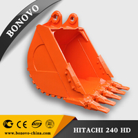 Hot sell Excavator heavy duty bucket for EX240 excavator bucket design