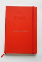 custom handmade a5 PU leather diary journal notebooks with elastic band