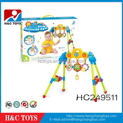 Multifunctional baby play activity gym baby play gym with music HC249511