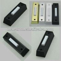 Black Plastic Wired Doorbell Push Button