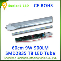Rotating socket 105LM/W SMD2835 CE ROHS energy saving tube8 led light tube