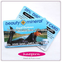 Guaranteed Quality And Production Time ! 2015 Full Color Printed Plastic Card