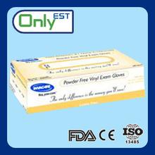 Disposable powder free medical xxl vinyl gloves for dental
