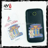 New style sticky cellphone screen cleaner, screen cleaner sticky, sticky microfiber cleaning cloth for cell phones