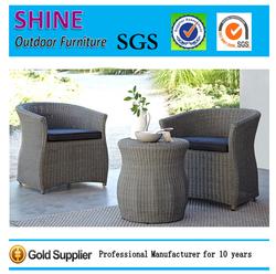 Sale 2+1 Conversation Sofa Set For Coffee Shop Outdoor Rattan Garden Furniture