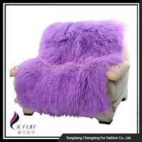 CX-D-35 Customize Design Decorative Mongolian Lamb Fur Rug