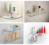European style glass bathroom corner shelf , curved glass shelf made in China trade assurance supplier