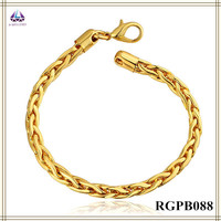 Factory Price 22k Gold Jewelry Design Men's Smart Bracelet 2015