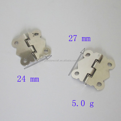 Made in China high quality and low price butt metal hinge for jewelry box