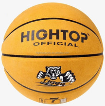 Wholesale Outdoor Official Size Basketball /custom genuine leather training and match basketball