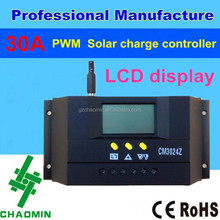 12v 24v 30A PWM dc motor speed solar charge controller circuit with LCD display