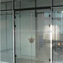 3-19mm Laminated silk screen printed bathroom glass door