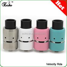 Hong kong wholesale Assorted peek insulator velocity rda atomizer velocity rda velocity 1:1 mechanical rda clone
