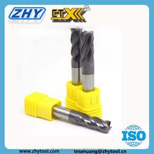 Changzhou 2 or 4 Flute tungsten Carbide Cutting Tools mill For Finishing Machining