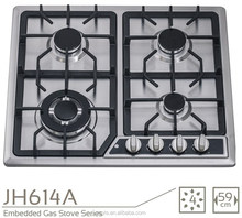 four burner Gas Cooktops Type and Stainless Steel Surface Material gas stove