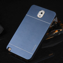 Luxury Motomo Aluminum Burshed Metal Slim Ultra Thin Hybrid Hard Case Cover Shell for Samsung Galaxy Note 3