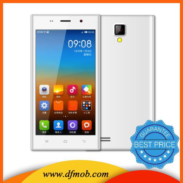 2015 100 % más barato 5.0 pulgadas androide 4.4 mtk6572 doble núcleo teléfono móvil 3G de buena calidad H3-18