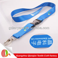 Blue printing airplane seatbelt buckle lanyard