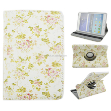 Flower Pattern PU Leather Flip Magnetic Smart Stand Case for Samsung Galaxy Tab A 8.0 inch T350
