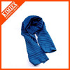 Hot sale colorful men striped knit acrylic scarf supplier