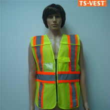 2015 CE EN20471 knitted fluorescein 100% polyester mesh fabric safety vest