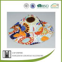 BSCI Audit supreme 100% cotton floral custom cartoon bucket hat