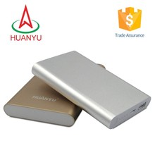 2015 Custom logo pvc 10000mah power bank charger with charging cable