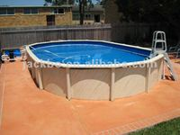 China above ground PVC swimming pool with metal frame