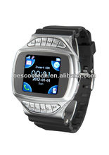 Unlocked GD950 Silver, A-GPS Java Bluetooth 1.44 inch TFT Touch Screen Fashion Watch Phone with Camera, Single SIM, Quad band