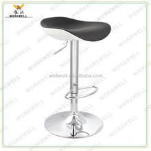 cheap design ABS metal high swivel bar lounge chairs