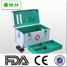 aluminum metal emergency first aid kit box/car outdoor home factory first aid kit