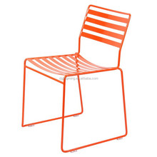 stackable powder coated outdoor garden metal wire side chair