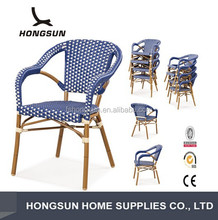 C221-DF Garden bamboo chair outdoor rattan furniture for heavy people