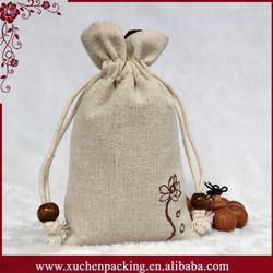 Cheap Custom Printed Packaging Handmade Linen Gift Bags No Minimum