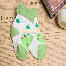 Pretty cartoon cotton shoe like kid sock