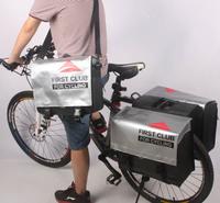PVC tarpaulin Double bicycle rear bag pannier bike bag