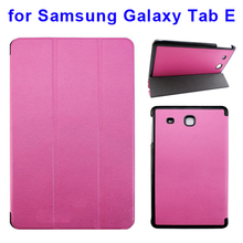 2015 Newest 3 Folio Leather Case Cover for Samsung Galaxy Tab E T560